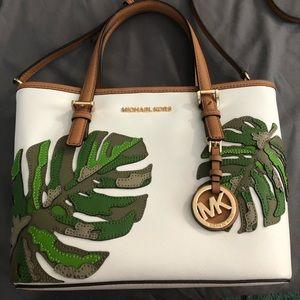 Rare Michael Kors palm leaf purse